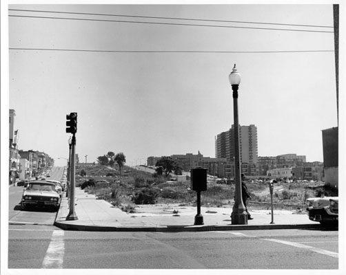 Vacant lots between Post and Geary aug 1964 AAC-1941.jpg