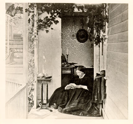 Mrs General Fremont on porch at Black Point 1863 AAC-6063.jpg