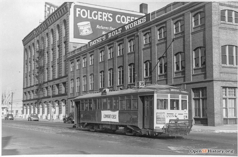 Folgers Coffee at Main and Howard 1938 wnp67.0462.jpg
