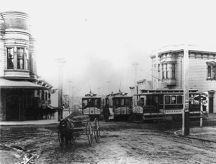 Streetcars-nos-5-13-18-all-to-Holy-Cross-Cemetery-and-Ferries-unknown-intersection-apx-1880s.jpg